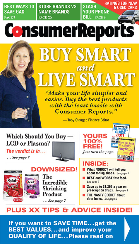 Consumer Reports new business acquisition magalog