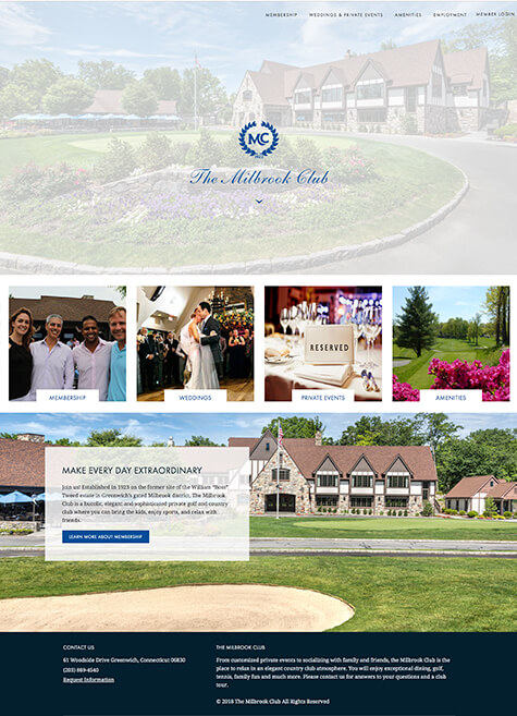 Web site for the Milbrook Club