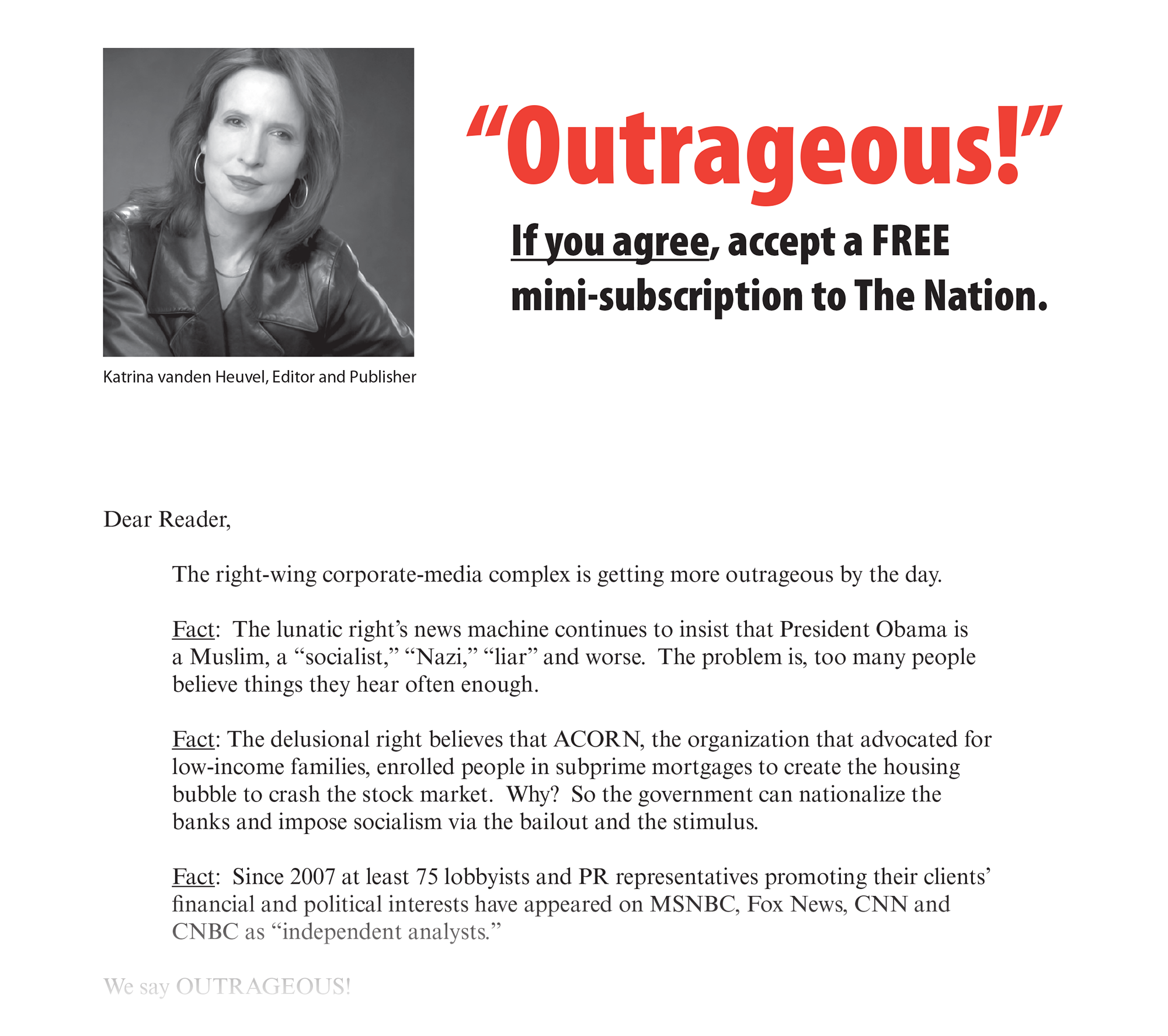"""The Nation's """"Outrageous!"""" control package"""